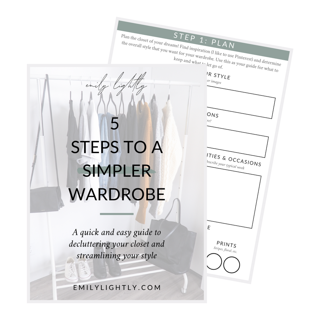 5 Steps to a Simpler Wardrobe
